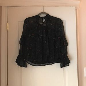 Ruffled Lucky Brand blouse